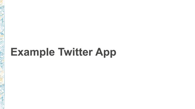 Example Twitter App