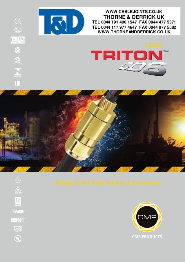 Cmp Cable Glands Triton T3cds Deluge Proof Glands Atex