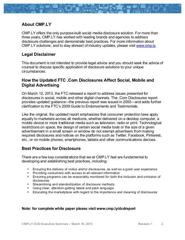 About CMP.LYCMP.LY offers the only purpose-built social media disclosure solution. For more thanthree years, CMP.LY has w...