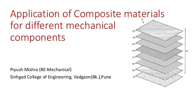 Application of Composite materials for different mechanical components Piyush Mishra (BE-Mechanical) Sinhgad College of En...