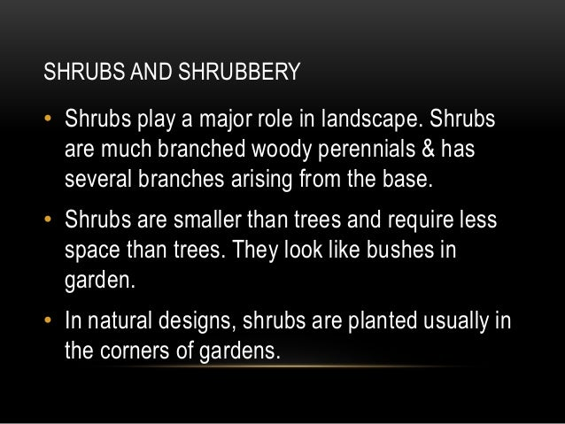 • Small and medium sized shrubs are suitable to traditional uses. • Large species fit best in commercial landscapes. • e.g...