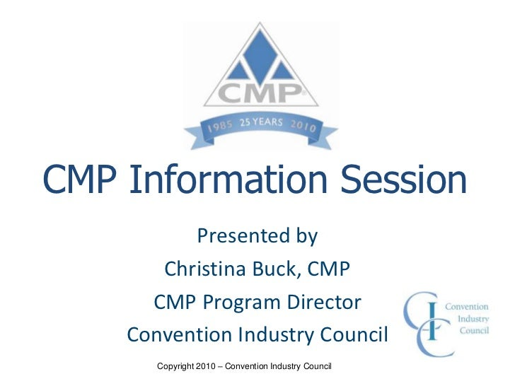 Professional Certification: Obtaining CMP Status