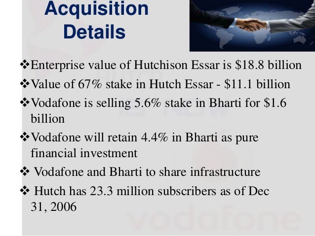 case study on merger and acquisition of vodafone and hutch