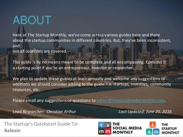 Bahrain's Startup Ecosystem Slide 2