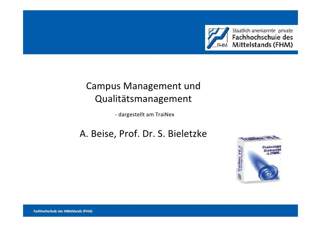 1                                     Campus Management und                                   Qualitätsmanagement         ...