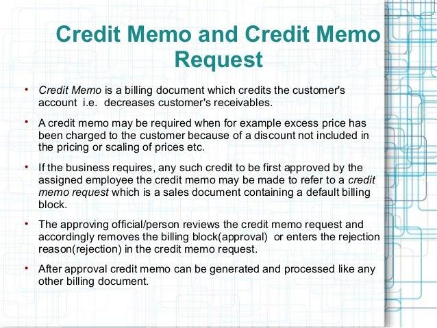 Sample Credit Memo Credit Memorandum Example Best Template Design