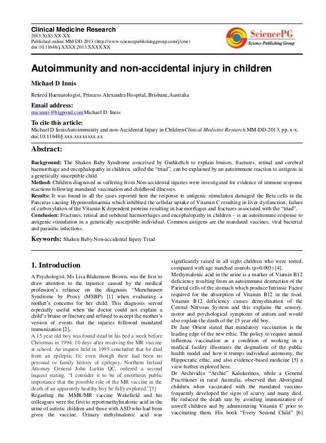 Clinical Medicine Research2013;X(X):XX-XXPublished online MM DD 2013 (http://www.sciencepublishinggroup.com/j/cmr)doi:10.1...