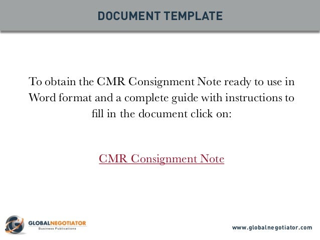 consignment note instructions An air waybill (awb) or air consignment note is a receipt issued by an  the consignor provides a shipper's letter of instructions which authorizes the.