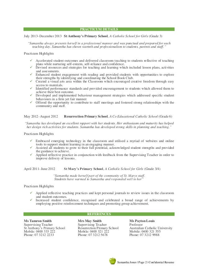 a 2 - Resume Writing Sample