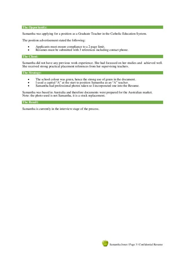 3 - Resume Writing Sample