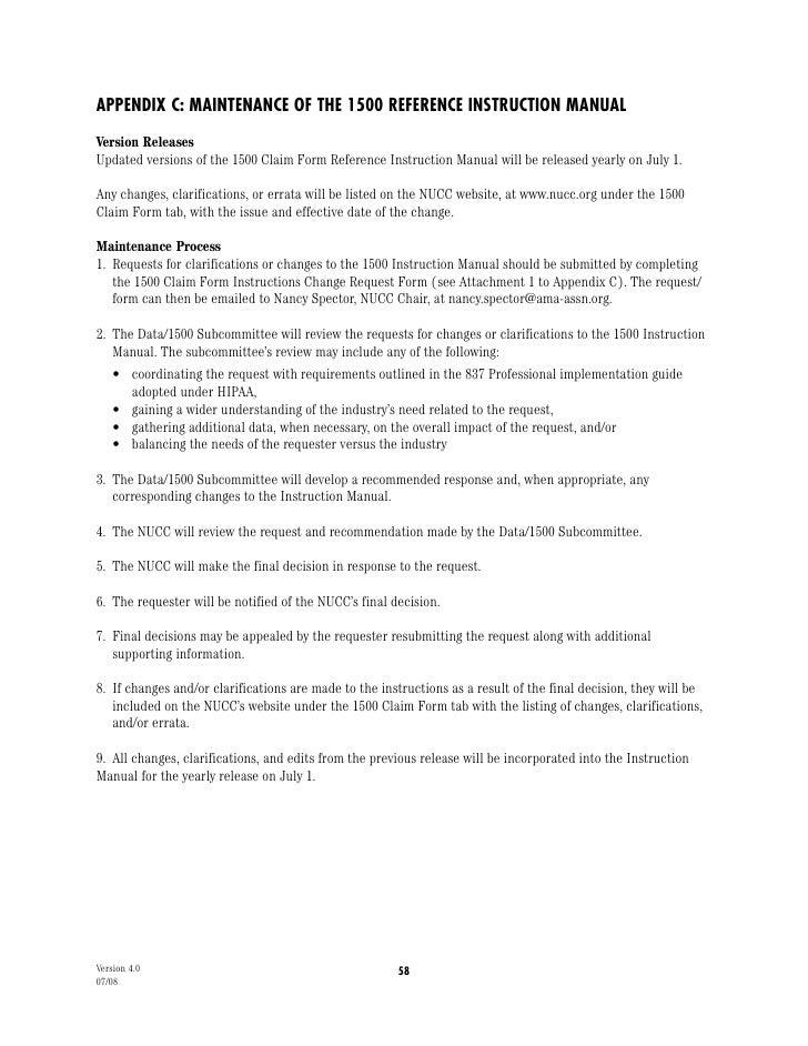 Cms 1500 Instructions