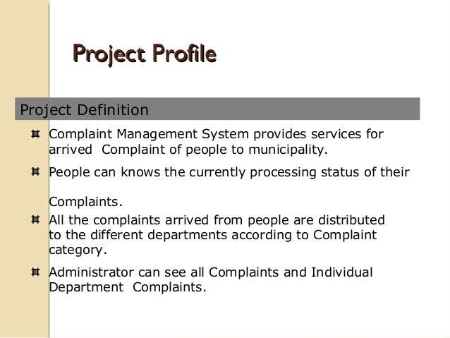 Complain Management system Presentation Slide 2