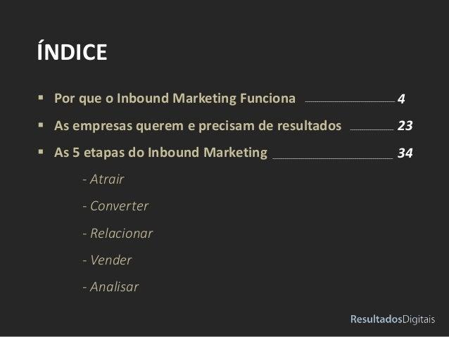  Por que o Inbound Marketing Funciona  As empresas querem e precisam de resultados  As 5 etapas do Inbound Marketing - ...