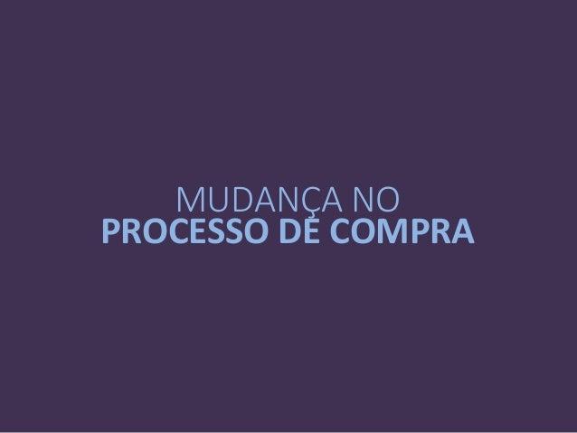 MUDANÇA NO PROCESSO DE COMPRA