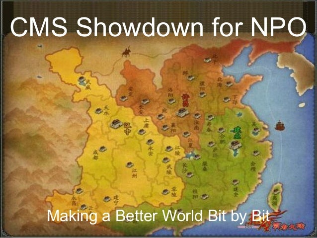 CMS Showdown for NPOMaking a Better World Bit by Bit