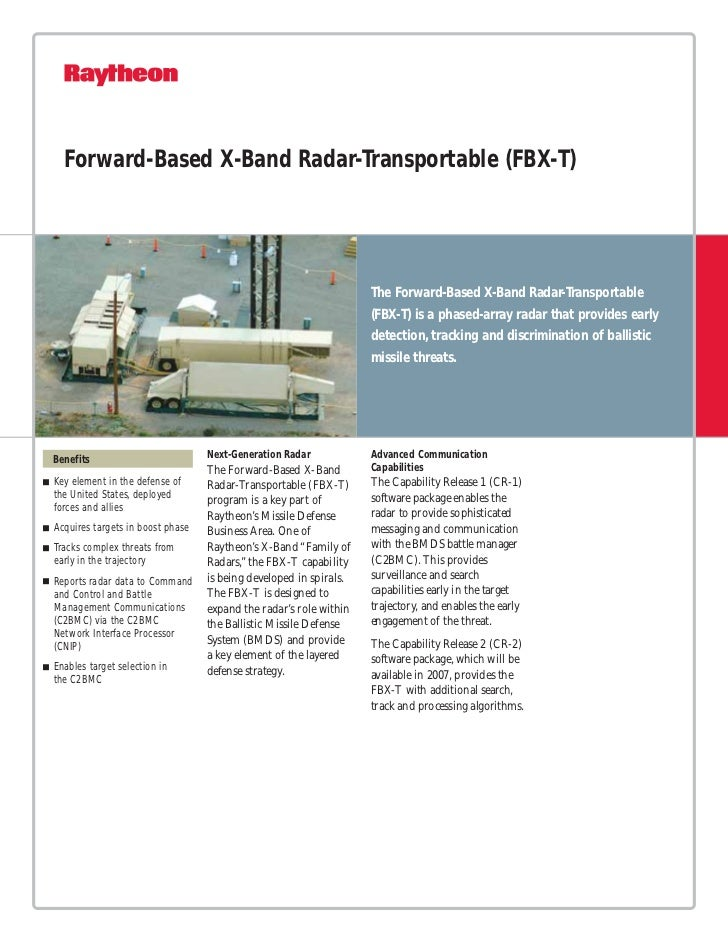 Forward-Based X-Band Radar-Transportable (FBX-T)                                                                   The For...