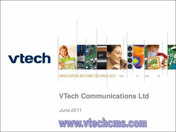 VTech Communications LtdJune 2011