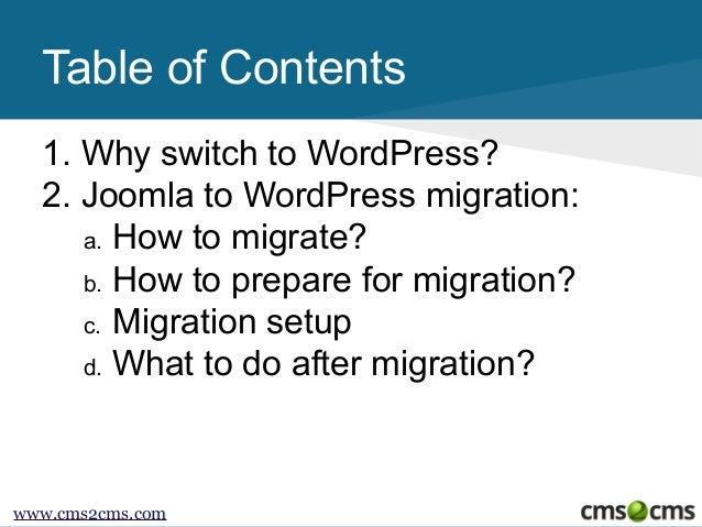 How to Migrate from Joomla to WordPress Slide 2