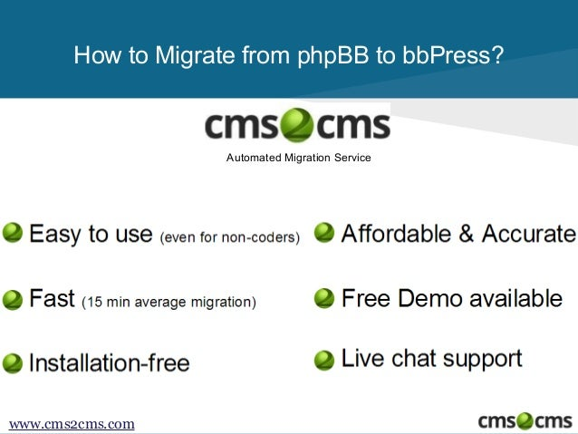 How to Migrate from phpBB to bbPress Slide 2