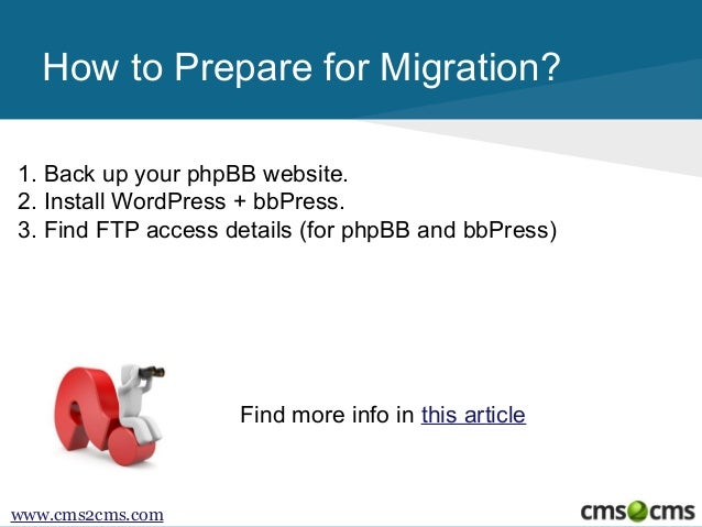 How to Migrate from phpBB to bbPress Slide 3