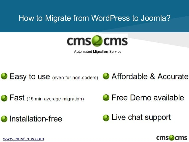 How to Migrate from WordPress to Joomla  Slide 2