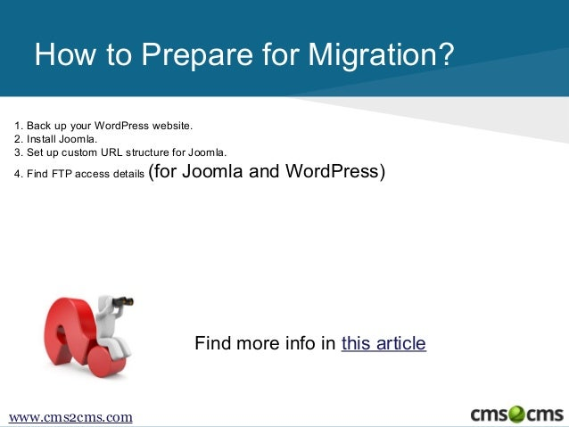 How to Migrate from WordPress to Joomla  Slide 3