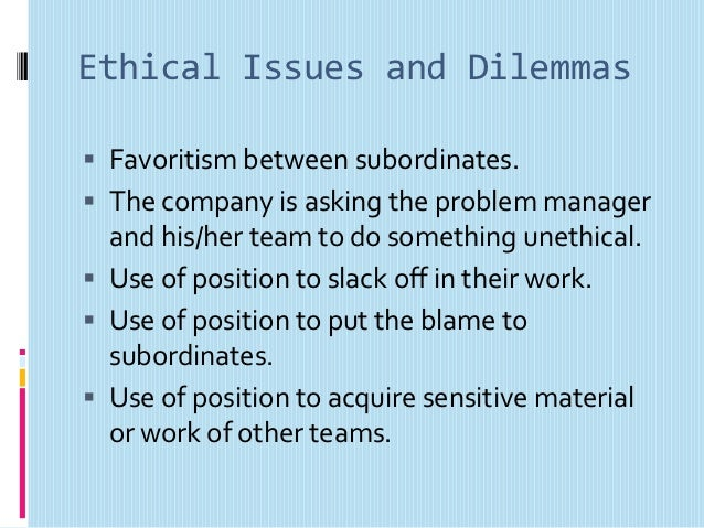 ethical issues in teamwork Workplace ethics is integral in fostering increased productivity and teamwork  among your employees it helps in aligning the values of your.