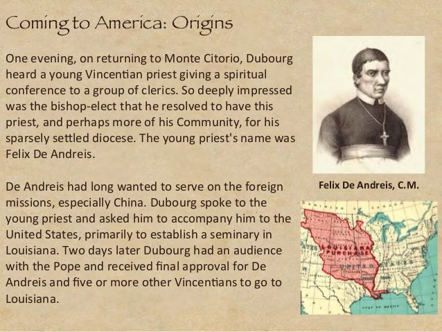 Journey of Faith: History of the Congregation of the Mission (Vincentians) in the U.S.A. Slide 3