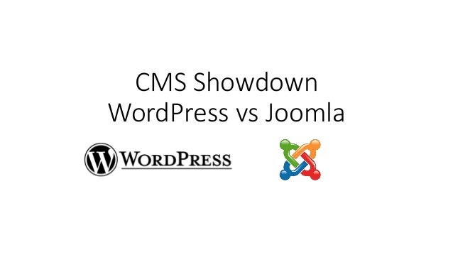 CMS Showdown WordPress vs Joomla