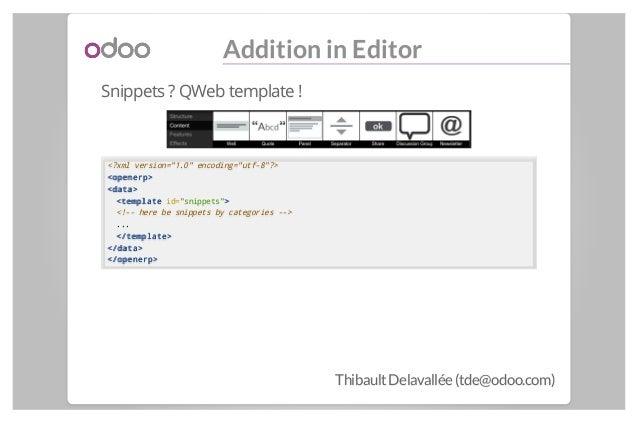 Odoo - CMS dynamic widgets