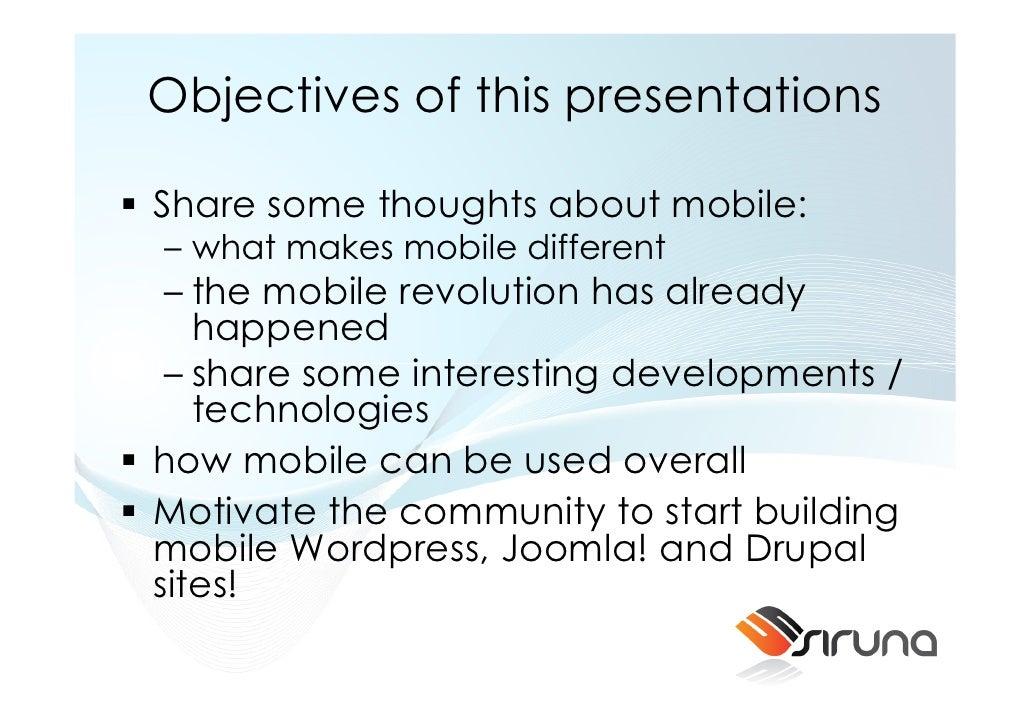 Mobile CMS - CMSExpo 2010 Slide 3