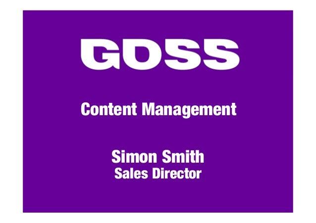 Content ManagementSimon SmithSales Director