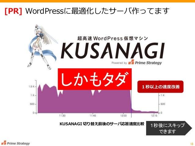 [PR] WordPressに最適化したサーバ作ってます 18 KUSANAGI 切り替え前後のサーバ応答速度比較 1秒以上の速度改善 1秒後にスキップ できます しかもタダ