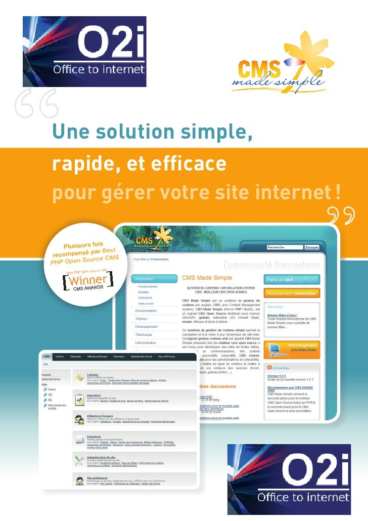 """                        made simpleUne solution simple,rapide, et efficace made simplepour gérer votre site internet !   ..."