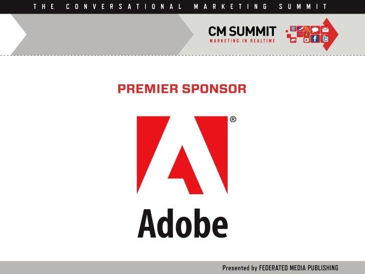 CM Summit 2010 Sponsors Slide 1