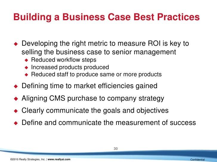 How to make the business case for a cms in your organization building a business case wajeb Choice Image