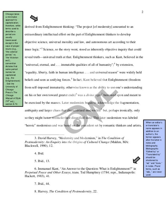 chicago manual of style sample paper online writing lab owl  3