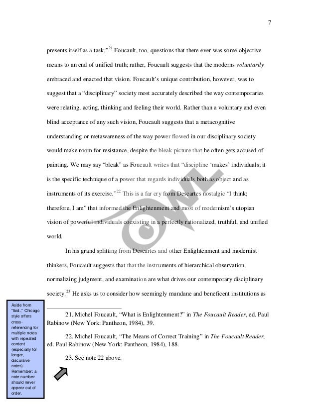 chicago manual of style sample paper with footnotes