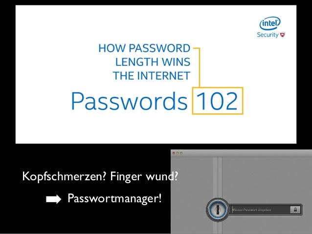 Kopfschmerzen? Finger wund? ➡ Passwortmanager!