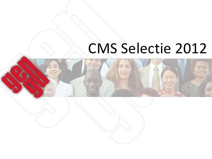 CMS Selectie 2012