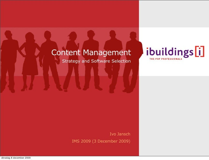 Content Management                             Strategy and Software Selection                                            ...