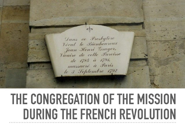 Congregation of the Mission During the French Revolution
