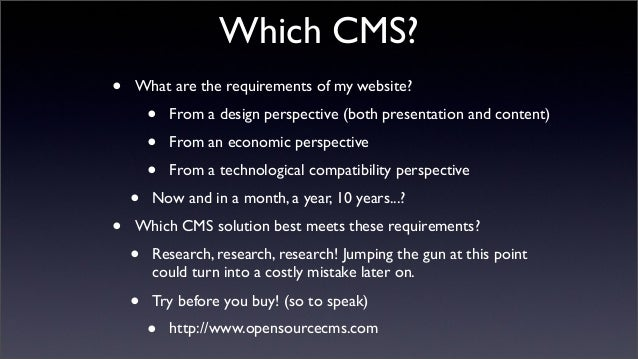 Content Management Systems (CMS) & WordPress theme development slideshare - 웹