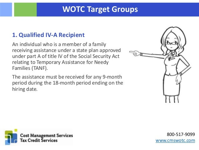The Work Opportunity Tax Credit's Ten Target Groups Slide 3