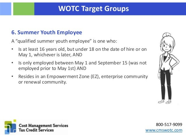 The Work Opportunity Tax Credit's Ten Target Groups