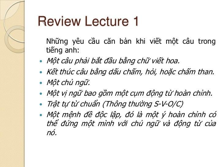 Cụm từ và mệnh đề Slide 3