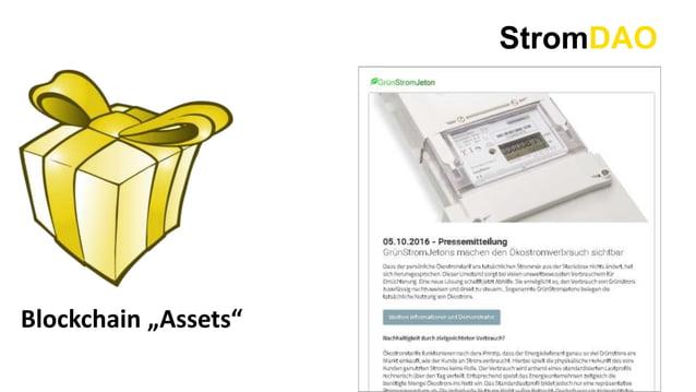 """StromDAO Blockchain """"Assets"""""""