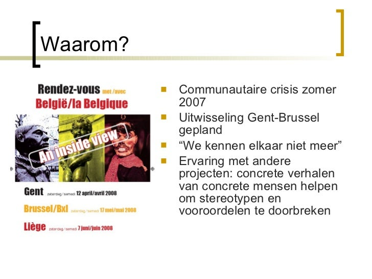 Rendez-Vous met  België  Slide 3