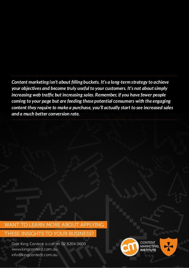 Content marketing isn't about filling buckets. It's a long-term strategy to achieve     your objectives and become truly u...