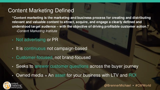 """Content marketing is the marketing and business process for creating and distributing relevant and valuable content to at..."